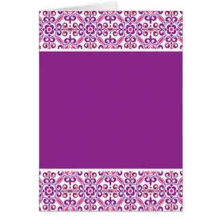 Cartão Teste padrão de mosaico BGF - roxo