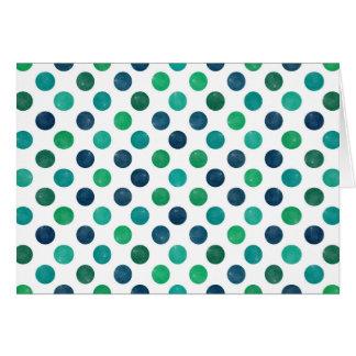 Cartão Teste padrão de pontos bonito XIV
