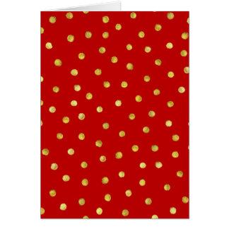 Cartão Teste padrão de pontos elegante dos confetes da