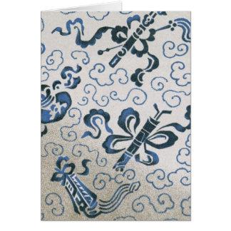 Cartão Teste padrão decorativo chinês de matéria têxtil