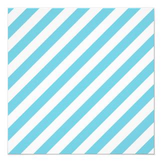 Cartão Teste padrão diagonal azul e branco das listras
