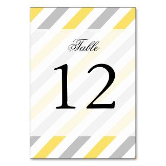 Cartão Teste padrão diagonal cinzento e amarelo das