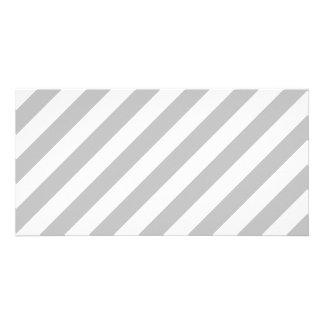 Cartão Teste padrão diagonal do cinza e o branco das