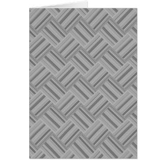 Cartão Teste padrão diagonal do weave das listras