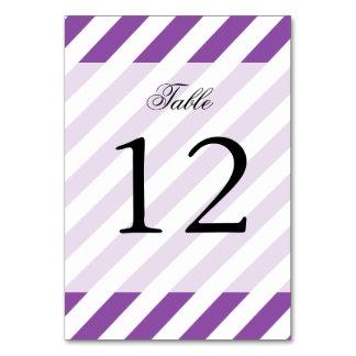 Cartão Teste padrão diagonal roxo e branco das listras