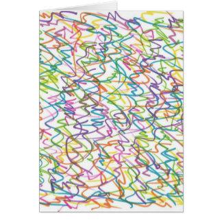 Cartão Teste padrão do abstrato do Splatter dos grafites