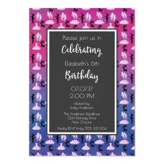 Cartão Teste padrão do balé na festa de aniversário