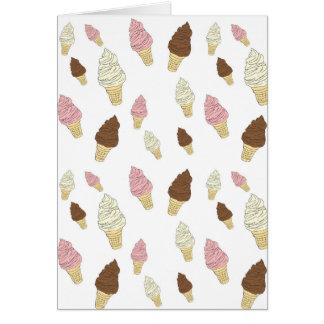 Cartão Teste padrão do cone do sorvete