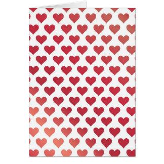 Cartão Teste padrão do coração - inclinação vermelho da