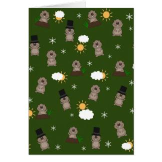 Cartão Teste padrão do dia de Groundhog