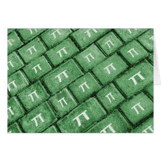 Cartão Teste padrão do estilo do Grunge do Pi