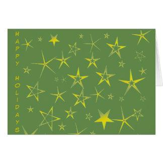 Cartão Teste padrão do feriado da estrela do ouro
