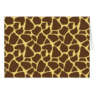 Cartão Teste padrão do girafa