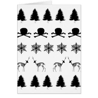 Cartão Teste padrão do inverno