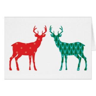 Cartão Teste padrão do Natal do fanfarrão dos cervos -
