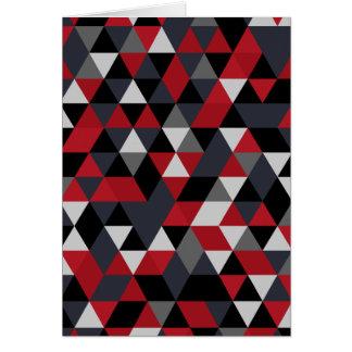 Cartão Teste padrão do polígono de Minimalistic (prisma)