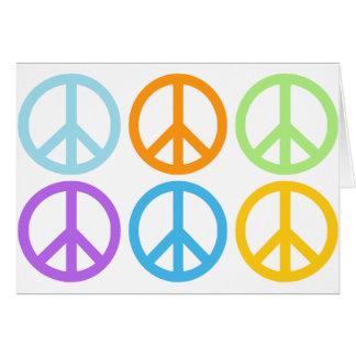 Cartão Teste padrão do sinal de paz