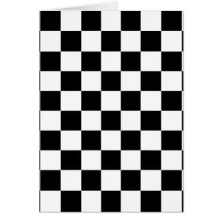 Cartão teste padrão do tabuleiro de xadrez preto e branco