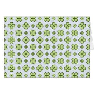 Cartão Teste padrão do trevo de quatro folhas
