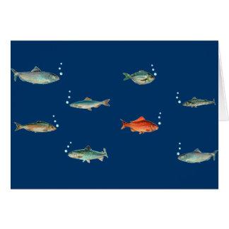 Cartão Teste padrão dos peixes