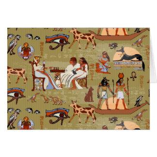 Cartão Teste padrão dos símbolos de Egipto |
