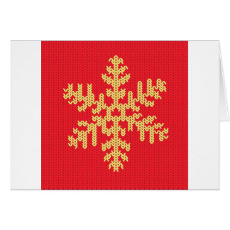 Cartão Teste padrão feito malha do floco de neve