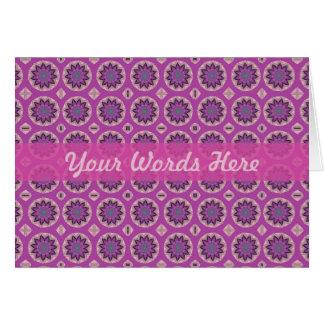 Cartão Teste padrão floral cor-de-rosa bonito