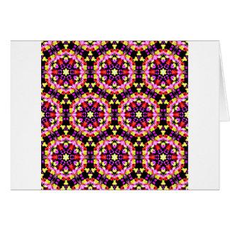 Cartão Teste padrão floral minúsculo