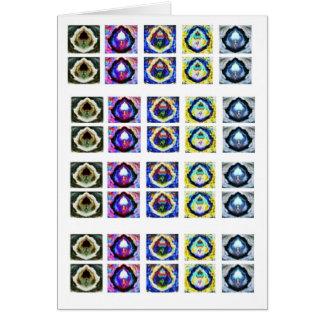 Cartão Teste padrão gracioso holístico artístico de