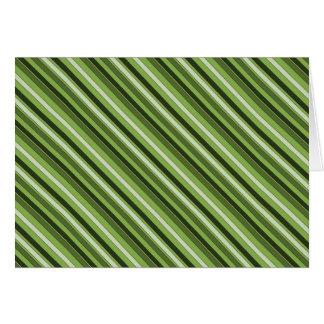 Cartão Teste padrão horizontal verde das listras das