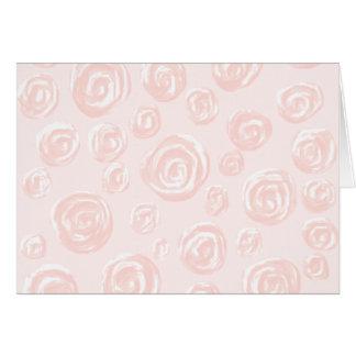 Cartão Teste padrão macio bonito do rosa do rosa
