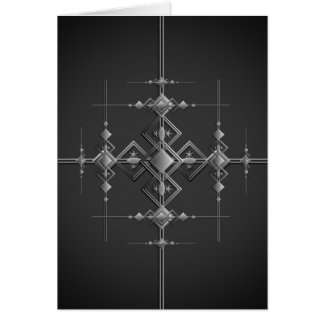 Cartão Teste padrão metálico gótico
