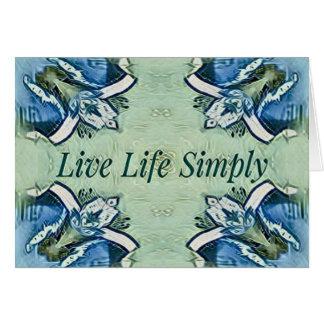 Cartão Teste padrão moderno da vida positiva artística do