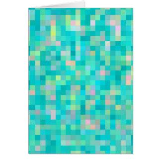 Cartão Teste padrão multicolorido da arte do pixel
