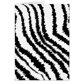 Cartão Teste padrão preto do impressão da zebra