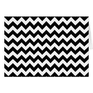 Cartão Teste padrão preto e branco da viga