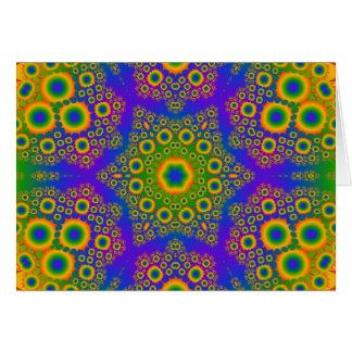 Cartão Teste padrão radial psicadélico: