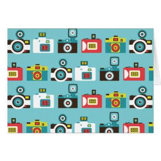 Cartão Teste padrão retro colorido das câmeras de Lomo do