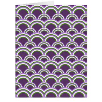 Cartão Teste padrão sem emenda com arcos-íris