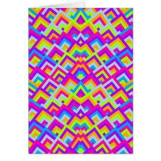 Cartão Teste padrão simétrico dos auges do ziguezague