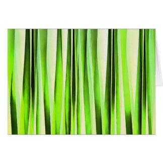 Cartão Teste padrão Stripy verde eterno