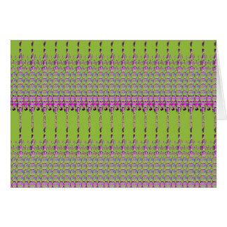 Cartão Teste padrão verde e cor-de-rosa abstrato