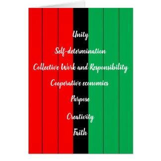 Cartão Teste padrão verde preto vermelho das listras dos