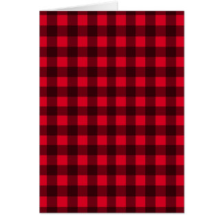Cartão Teste padrão vermelho da xadrez
