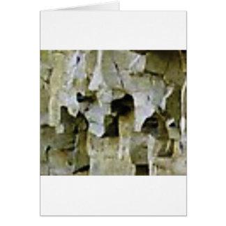 Cartão teto branco áspero da rocha