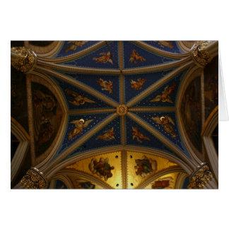 Cartão Teto da basílica - anjos 1