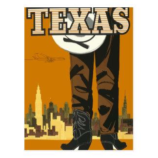 Cartão Texas EUA das viagens vintage