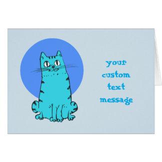Cartão texto customizável dos desenhos animados