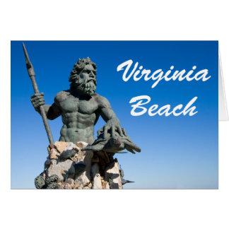 Cartão Texto do branco de w da estátua de Virginia Beach