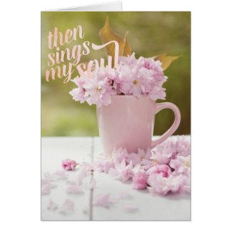 Cartão Texto do primavera de Stilllife da flor de